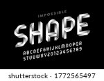 impossible shape style font ... | Shutterstock .eps vector #1772565497