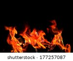 fire and flame on black...   Shutterstock . vector #177257087