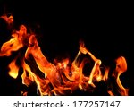 fire and flame on black...   Shutterstock . vector #177257147