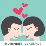 couple in love | Shutterstock .eps vector #177257477