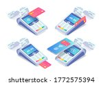 cashless payment via credit... | Shutterstock .eps vector #1772575394