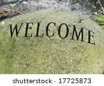 welcome stone  like a place mat ... | Shutterstock . vector #17725873
