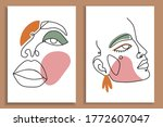 modern abstract faces with... | Shutterstock .eps vector #1772607047
