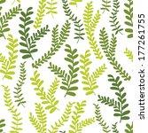 cute floral seamless pattern... | Shutterstock .eps vector #177261755
