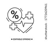 heartbeat icon. cardio rhythm... | Shutterstock .eps vector #1772620961
