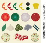 Vector Set  Pizza Toppings...