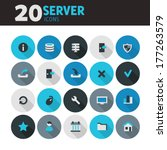 modern blue flat design server...