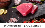 Fresh Tuna Fillet Steaks With...