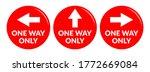 set of one way only round floor ... | Shutterstock .eps vector #1772669084