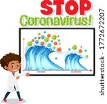 second wave of corona virus ... | Shutterstock .eps vector #1772672207