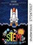 stem education logo with... | Shutterstock .eps vector #1772673317
