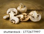 Champignon Mushrooms On A ...