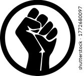 symbol of the black freedom... | Shutterstock .eps vector #1772680097