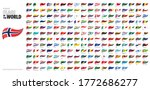 pennant flags of the world.... | Shutterstock .eps vector #1772686277