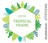 tropical leaves  plants and...   Shutterstock .eps vector #1772712101