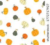 cute hand drawn pumpkin... | Shutterstock .eps vector #1772717927