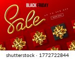 black friday typographic design.... | Shutterstock .eps vector #1772722844