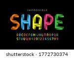impossible shape style font ... | Shutterstock .eps vector #1772730374