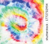 tie dye swirl. hippie spiral... | Shutterstock .eps vector #1772732954