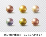 Pearl Glossy Beads Isolated On...