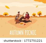 family picnic in autumn. apple... | Shutterstock .eps vector #1772751221