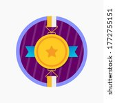 gold medal with star badge and... | Shutterstock .eps vector #1772755151