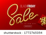 black friday typographic design.... | Shutterstock .eps vector #1772765354