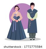 traditional korean clothing. a... | Shutterstock .eps vector #1772775584