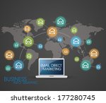 business electronic minimalist | Shutterstock .eps vector #177280745