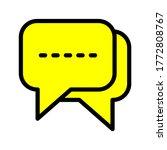 bubble chat communication...