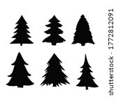 isolated pine on the white... | Shutterstock .eps vector #1772812091
