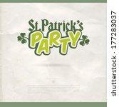 happy st. patrick's day vector... | Shutterstock .eps vector #177283037