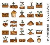 soil ground icons set. outline... | Shutterstock .eps vector #1772831414