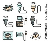 Ultrasound Icons Set. Outline...