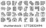 quality assurance icons set.... | Shutterstock .eps vector #1772832494