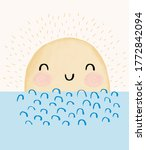 cute vector illustration with... | Shutterstock .eps vector #1772842094