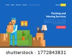 packing and moving services... | Shutterstock .eps vector #1772843831