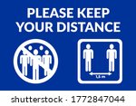 please keep your distance... | Shutterstock .eps vector #1772847044