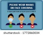 wear face mask notice. wear... | Shutterstock .eps vector #1772860034