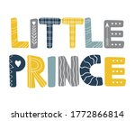 little prince. hand drawn... | Shutterstock .eps vector #1772866814