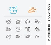 clothes icons set. label and...