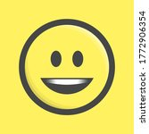 smile icon. smiling emoticon in ...