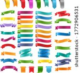 colorful ribbons and labels big ... | Shutterstock .eps vector #1772906531