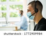 call center telephone operator... | Shutterstock . vector #1772909984
