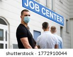 job center line of jobless... | Shutterstock . vector #1772910044