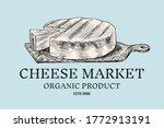 cheese badge. vintage logo for... | Shutterstock .eps vector #1772913191