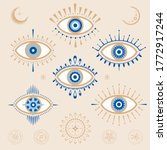 evil eye vector design elements.... | Shutterstock .eps vector #1772917244