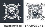 repair service retro emblem... | Shutterstock .eps vector #1772923271