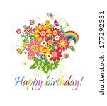 happy birthday  | Shutterstock .eps vector #177292331