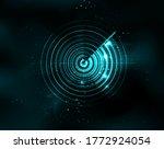 blue radar abstract stock... | Shutterstock .eps vector #1772924054